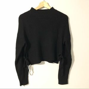2/$22 — FOREVER 21 Lace Up Side Detail Sweater